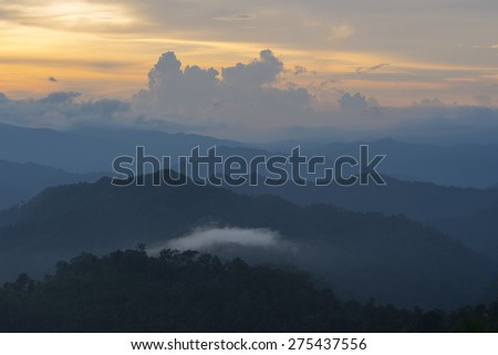 Sunrise at Kaeng krachan national park, THAILAND