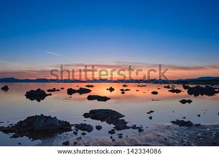 Sunrise at Mono Lake, California, USA - stock photo