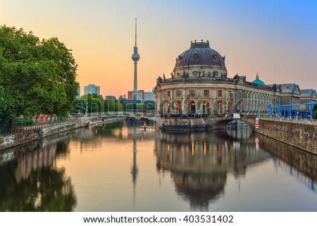 Sunrise at Museum Island , Berlin , Germany - stock photo