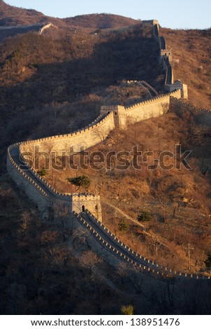 Sunrise at the Great Wall in Mutianyu - Northern China - Asia