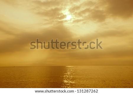 sunrise at the sea - stock photo