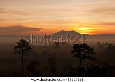 Sunrise at Tung Salang lauan - stock photo