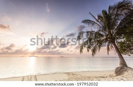 Sunrise at Turtle Island, Borneo, Malaysia  - stock photo