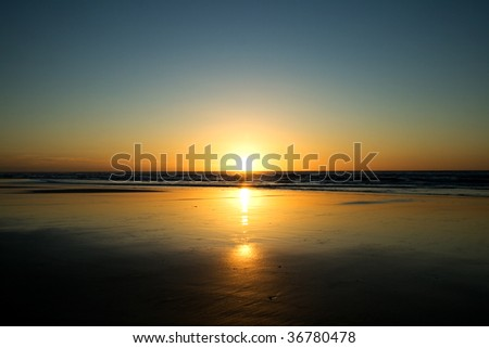 Sunrise Fraser Island - stock photo
