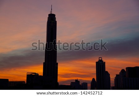 Sunrise in Bangkok - stock photo