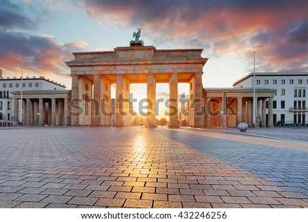Sunrise in Berlin - stock photo