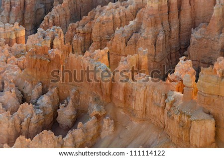 Sunrise in Bryce Canyon National Park in Utah in the United States of America