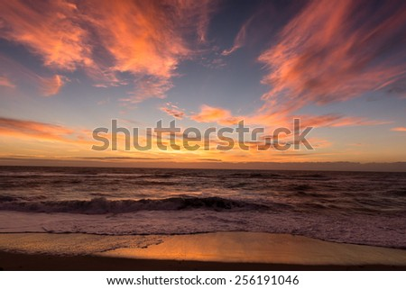 Sunrise in Buxton, NC - stock photo