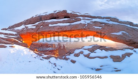 Sunrise in Canyonlands National Park. - stock photo