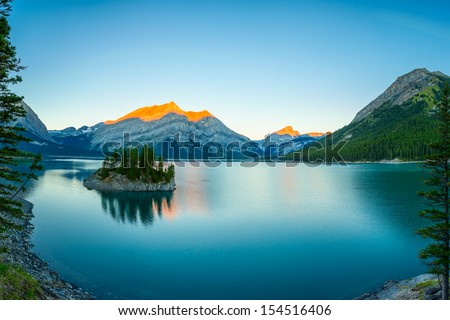 Sunrise in Kananaskis Country,Alberta,Canada. - stock photo