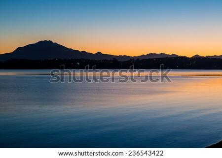 Sunrise in Puerto Veras, Chile - stock photo