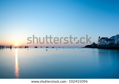 Sunrise in Swanage - stock photo