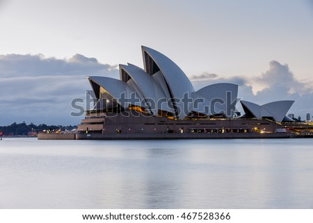 sunrise in Sydney Opera house 7th Jun 2014