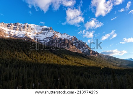 Sunrise in the Canadian Rockies - stock photo