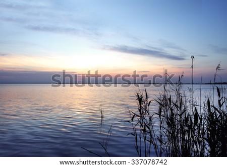 sunrise in the ocean - stock photo
