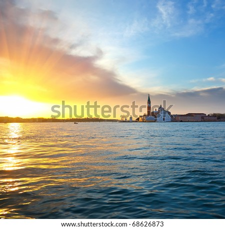 Sunrise in Venice - stock photo