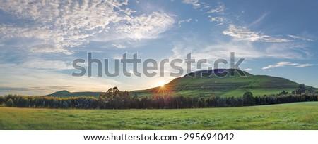 Sunrise near Underberg - stock photo