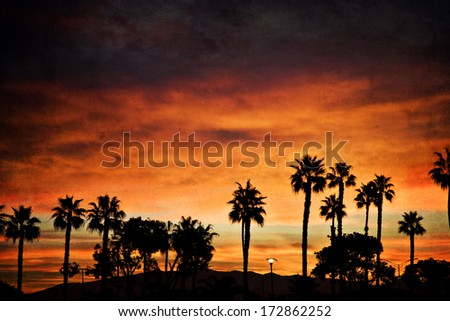 Sunrise on Coronado Island in California - stock photo