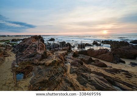 Sunrise on La Pedrera, one of Uruguays most popular resorts - stock photo