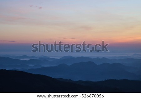 sunrise on mountains landscape