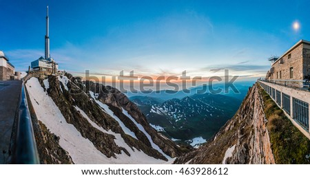 Sunrise on Pic du Midi de Bigorre, Hautes Pyrenees, France