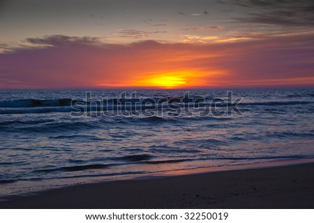 Sunrise on the Atlantic Ocean at Nags Head, North Carolina