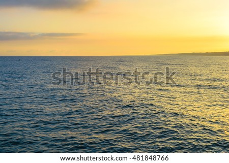Sunrise on the Baltic sea in the summer