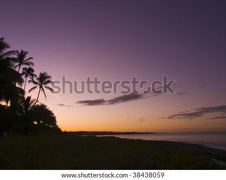 Sunrise on the beach at the Kauai, Hawaii - stock photo