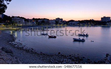 Sunrise on the Beach in Paguera, Majorca (Balearic Islands - Spain)
