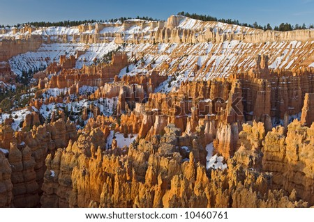 Sunrise on the hoodoos of Bryce Canyon National Park, Utah, USA