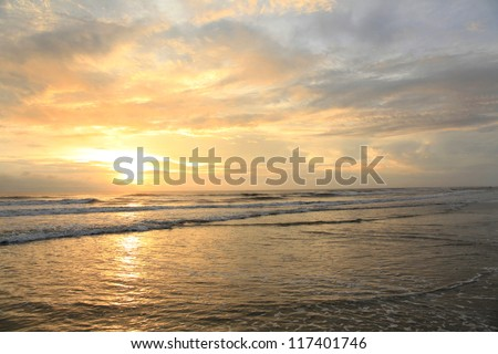 Sunrise on the Outer Bank - stock photo