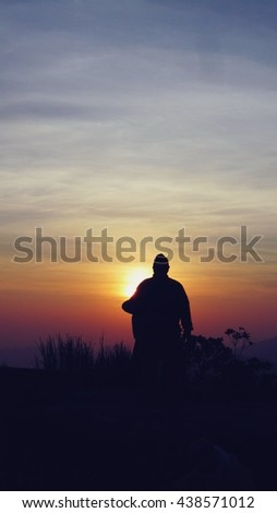 Sunrise on the top of the mountain/Stand alone but fully of hope
