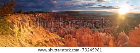 Sunrise over Bryce Canyon, Utah - stock photo