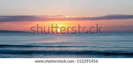Sunrise over Cronulla - stock photo