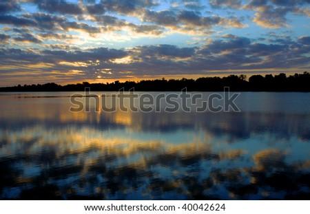 Sunrise over Lake Entrance, Australia - stock photo