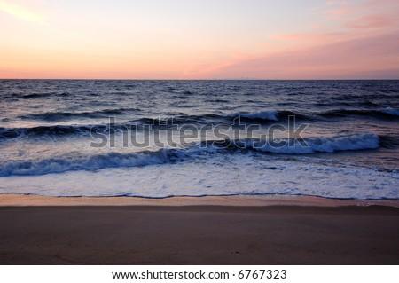 Sunrise over the Atlantic - stock photo