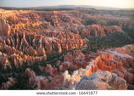 Sunrise over the Bryce Point. Bryce Canyon national park. Utah. USA