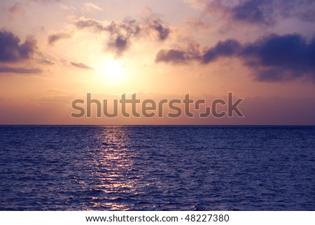sunrise seascape - stock photo