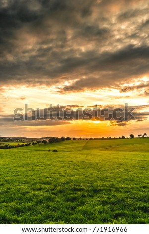sunrise spring green grass eastern
