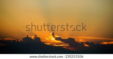 Sunrise, unfocused - stock photo