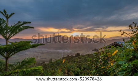 Sunrise view at Phu Lunagka, Phayao, Thailand