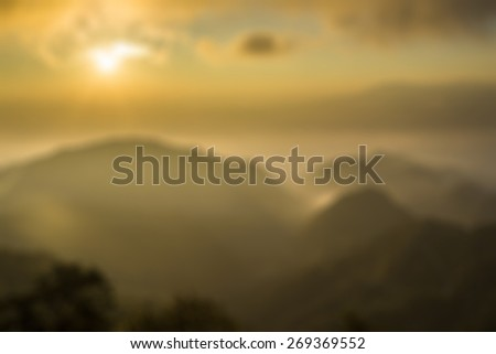Sunrise view blur for background - stock photo
