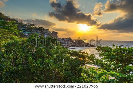 Sunrise view of Koh Tao island of Thailand  - stock photo