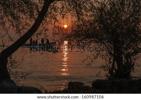 Sunset - stock photo