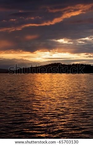Sunset algonquin - stock photo