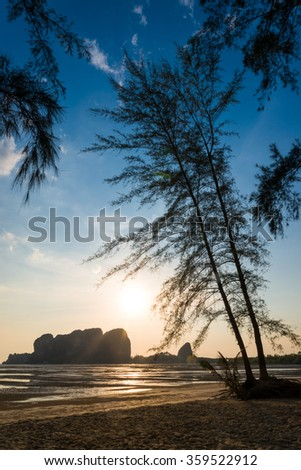 Sunset at Andaman Sea,Trang province, Thailand