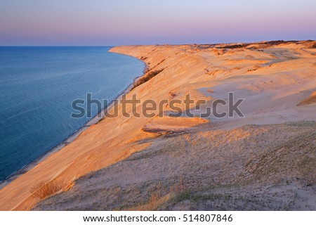 Sunset at Grand Sable Dunes, Pictured Rocks National Lakeshore, Lake Superior, Michigan's Upper Peninsula, USA