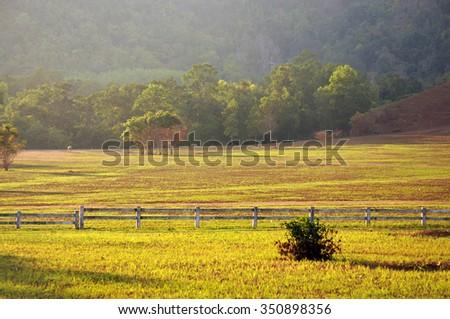 Sunset at Grass Hill, Ranong, Thailand - stock photo