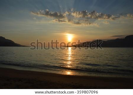 Sunset at Ilhabela - Brasil - stock photo