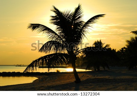 Sunset at Key West islands, Florida. USA - stock photo